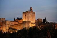 Alhambra de Granada, Andalusia, Spain, Europe.