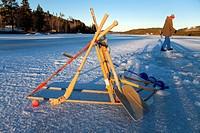 Winter tools Northern Sweden.