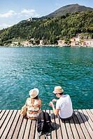 Couple looking to Garda Lake