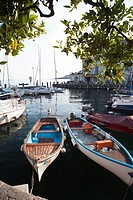 Boats in Toscolano Moderno, Italy