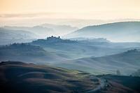 Sunrise mist, Tuscany, Italy