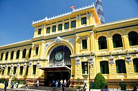 Post Office Building, designed by Gustave Eiffel, Ho Chi Minh City, Vietnam.