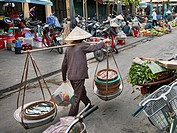 Central market in Hoi An Ancient Town. Quang Nam Province, Vietnam.