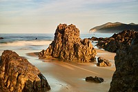 Beach of Helgueras, Noja, Cantabria, Spain.