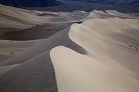The shapes and lines at Eureka Dunes at Death Valley National Park, California.