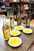 Tasting olive oil, Madrid, Spain