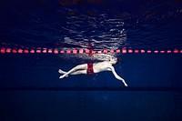 Underwater view of Swimming Sport, Nikolaev, Ukraine, Eastern Europe.