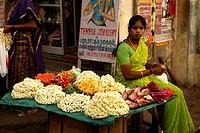 Kabaleeshwarar Temple Market Chennai (Madras), Tamil Nadu, South India, Asia.