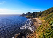 Coastline along Heceta Head where the famed lighthouse is located in Oregon.