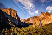 Yosemite Valley, California, USA. Half Dome and El Capitan from Tunnel View.
