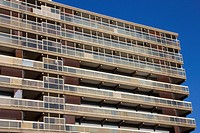 A block of council flats in the now demolished Heygate Estate, in South East London. It was demolished between 2011 and 2014 as part of the Elephant a...