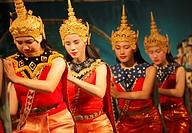 Laos, Luang Prabang, classical dance, dancers,.
