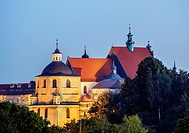 Poland, Lublin Voivodeship, City of Lublin, Old Town, Dominican Priory at twilight.