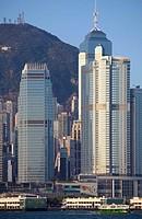 China, Hong Kong, Central district, skyline, Victoria Peak,.