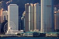 China, Hong Kong, Central district, skyline,.