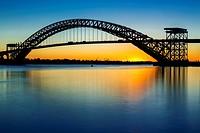 Bayonne Bridge Last Light - The Bayonne Bridge is the fifth-longest steel arch bridge in the world, and was the longest in the world at the time of it...
