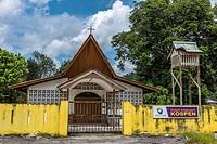 A church in Kampung Jambu, Padawan, Sarawak, Malaysia