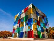 Centre Pompidou Museum modern art. Costa del Sol, Malaga. Andalusia southern Spain. Europe.