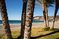 La Herradura beach, Almuñecar. Granada province, Andalusia Southern Spain. Europe.