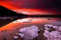 Evening light over tufa at Mono Lake, Mono Basin National Scenic Area, California USA.