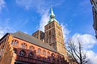 View of St. Nicholas´ Church, Hanseatic City of Stralsund, Mecklenburg-Pomerania, Germany.