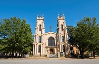 Columbia South Carolina Trinity Episcopal Church 1812 downtown on Sumter Street Cathedral.