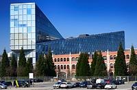 JIT Building - headquarters of Japan International Tobacco seen from Avenue de France, Geneva, Switzerland