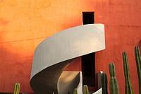 Studio of Diego Rivera in San Angel, Mexico City, Mexico.