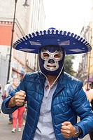 Charro, wrestler, Mexico.