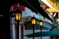 Street light in Luang Prabang,Laos,Southeast Asia.