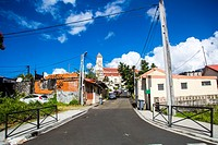 Narrow Streets views of the city of Fort de France, Martinique.