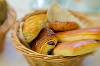Basket of pastries, Paris, France.