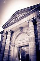 Entrance to the Orangerie Museum, Tuileries Garden, Paris, France.