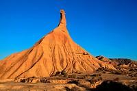 Mountain formation called Cabezo Castildetierra in the area called La Blanca Baja. Natural park Bárdenas Reales. Navarra.