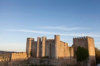 Óbidos, Portugal: The medieval castle of Óbidos perched over the walled citadel.