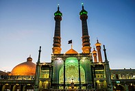 Iwan of Fatima Masumeh Shrine, Shiah Islam holy place in Qom city, capital of Qom Province of Iran.