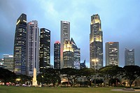 Singapore, Central Business District, skyline,.