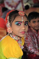 Malaysia, Penang, Thaipusam, hindu festival, young girl, portrait,.