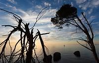 Sunset on Deià coast, Majorca, Balearic Islands, Spain