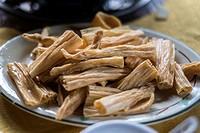 Dried beancurd sticks. Foshan, China.