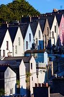 Ireland, County Cork, Cobh, Deck of Cards hillside houses.