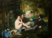 Edouard Manet. Le déjeuner sur l'herbe - Luncheon on the Grass . 1863. XIX th century . Orsay Museum - Paris.