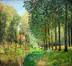 Alfred Sisley - The rest by the brook. Edge of the forest - 1878 - Orsay Museum - Paris.