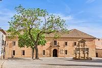 Seminario de San Felipe Neri, Fountain at Santa María´s square, Baeza Jaén province, Andalusia Spain.