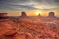 Sunrise at Monument Valley, Arizona, United States.