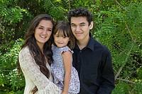 Three cousins at Kate Session park, San Diego, California.