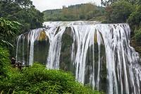 Guizhou Province, China. Yellow Fruit Tree (Huangguoshu) Waterfall.