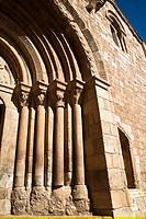 Portada de la iglesia románica de San Miguel - Daroca - Zaragoza - Aragón - España - Europa.