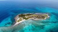 Aerial View, Rasky island, Los Roques, Venezuela.