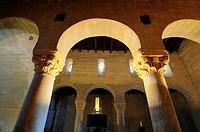 Visigoth church of San Juan.7th century.Baños de Cerrato.Palencia province.Castilla y Leon.Spain